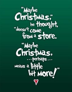 Christmas doesn't come from a store