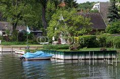 Schrebergärten am Ufer der Havel in Brandenburg a.d. Havel