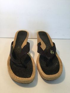 39ccb810eb8 Timberland Sandals Flip Flops Navy Blue Leather Women s Size 7.5M  fashion   clothing