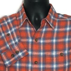 Mens Flannel Plaid Shirt Small Orange Tartan Lumberjack Hipster New True Craft #TrueCraft #ButtonFront #CasualTravelWorkwear Flannel Outfits, Plaid Flannel, Flannel Shirt, Flannel Clothing, Southern Drawl, Selling On Ebay, Men Casual, Orange, Store