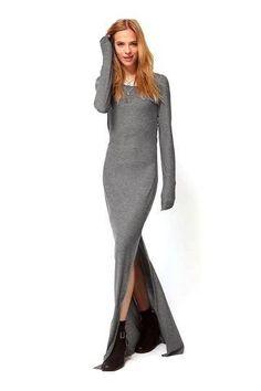Maxi Dress with Thigh Split - US$23.95 -YOINS