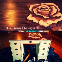 Finished ❤️ #littlebeandesigns #shading #wood #stain #minwax #rustoleum #diy #diynetwork #hgtv #art #paintedfurniture #paintedstains #instagram #tutorial #shading #desk #funkyfurniture #funky #paintedfurniture #chalkpaint #chalk  #unique #floral #fancy #bestupcycler