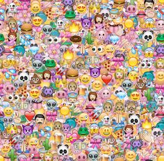 """Featuring the """"EMOJI HAPPY PATTERN"""" print created and styled by M. """"Emoji happy pattern' is inspired by the Kawaii culture. It's fun, cheerful and just like emoticons, it is there to help one express"""". Emoji Wallpaper, Cool Wallpaper, Pattern Wallpaper, Wallpaper Backgrounds, Smile Wallpaper, Queens Wallpaper, Images Emoji, Emoji Pictures, Emoji Mignon"""