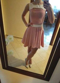 Kup mój przedmiot na #vintedpl http://www.vinted.pl/damska-odziez/krotkie-sukienki/16311966-rozowa-rozkloszowana-sukienka-idealna-na-studniowke