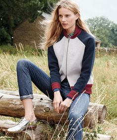 November Style Guide sneak peek. Our Very Personal Stylist team can help you pre-order the bonded lambswool varsity sweater-jacket and vintage straight jean in Ontario wash before they become available on Wednesday 23 October. Call 800 261 7422 or email erica@jcrew.com.