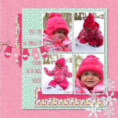 I stamp, I create, I have fun!: All Bundled Up. Cute little layout!! CUTE!