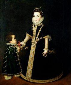 Sofonisba Anguissola - Margarita of Savoy with a Dwarf - Sofonisba Anguissola www.transitionresearchfoundation.com
