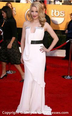 Dianna Agron-2010 SAG Awards Dresses Sheath/Column Floor-length Charmeuse Dresses(SCD377)