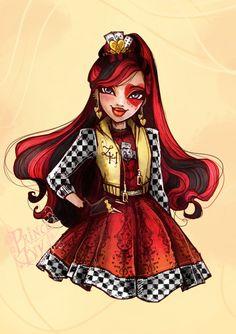 Lizzie H. by princeivythefirst on DeviantArt Ever After High, Lizzie Hearts, Queen Of Hearts, Monster High Art, Monster High Dolls, Raven Queen, After High School, Princess Art, High E