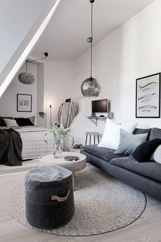 Stylish And Cool Design Ideas For Your Studio Flat Home Decor Finding the right tiny apartment is a fun challenge. There are many tiny apartment ideas and layouts available online. Designing a tiny apartment can . Apartment Decorating Rental, Interior, Apartment Design, Home, House Interior, Apartment Design Inspiration, Home Interior Design, Interior Design, Studio Decor