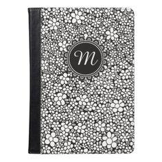 Hand Drawn Flower Pattern iPad Air Case - pattern sample design template diy cyo customize