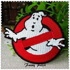 Ghostbusters Iron on Patch 24-H by FunnyPatch on Etsy