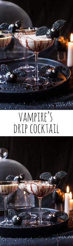 Vampire's Drip Cocktail – Colin Pint Halloween Cocktails, Holiday Drinks, Party Drinks, Holiday Treats, Fun Drinks, Yummy Drinks, Beverages, Casa Halloween, Halloween Food For Party