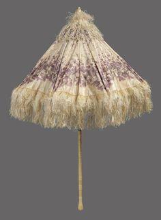 Parasol ca. 1840-1865 via The Museum of Fine Arts, Boston