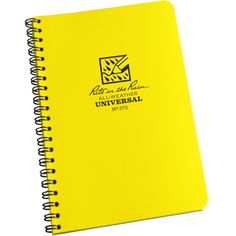 Universal Polydura notebook $6.95  All weather notebook from Rite in the Rain