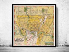 Old Map of Winnipeg Manitoba, Canada 1927 - product image