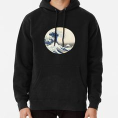 The Great Wave Off Kanagawa • Millions of unique designs by independent artists. Find your thing. Fleece Hoodie, Pullover, Great Wave Off Kanagawa, I Hate People, Hoodies, Sweatshirts, Neck T Shirt, Chiffon Tops, Shirt Designs
