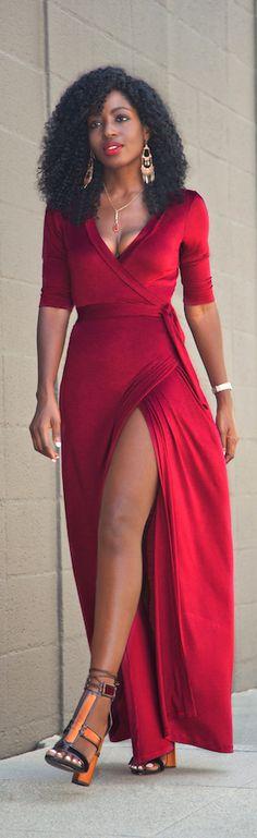 Oxford Wrap Maxi Dress / Fashion By Style Pantry