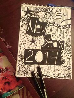 #doodle , #2017 , #NewYearDoodle