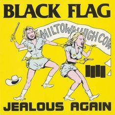 "Black Flag, ""Jealous Again"" 12-inch EP, SST, USA, 1980. Design: Raymond Pettibon. Source: The Art of Punk"