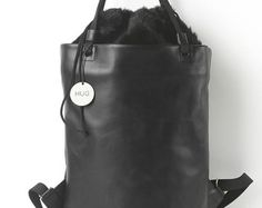 Leather Textile BagHandmade Bag by HugBagsAndMore on Etsy