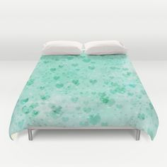 A Sea Of Floating Hearts Duvet Cover