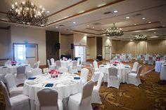 Whether simple or elaborate, any reception stuns in our Wavecrest Ballroom.  Photo Credit: Marlon Taylor Photography  #sandiegowedding #carlsbad #hgicarlsbad #carlsbadwedding #ballroom #chandelier #whitewedding #beachwedding