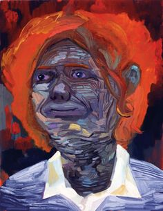 dana schutz Self portrait as a pachyderm- this painting is very dimensional in person.