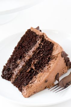 The BEST Chocolate Cake with Creamy Chocolate Buttercream Frosting! The perfect cake for parties, birthdays or just because! Recipe by chefsavvy.com