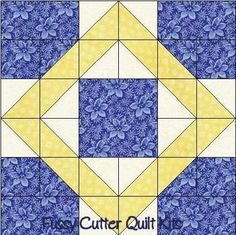 nine block quilt patterns | Scrappy Fabric 9 Patch Pattern Easy Pre-Cut Quilt Blocks Kit