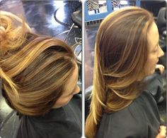 Warm face frame balayage highlights. L'Oreal colorist, Corene Hess at Capello Salon, Fort Worth.