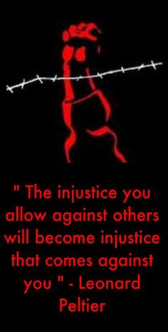 The injustice you allow ....