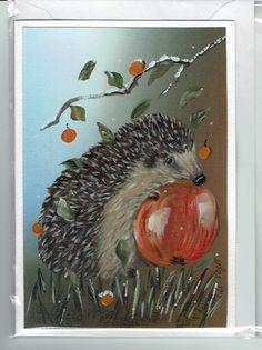"""Grüße - Grußkarte - """" Jetzt aber schnell ! """" - ein Designerstück von Vogelmalerin bei DaWanda"""