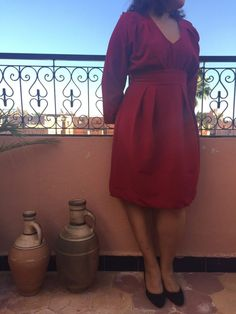 Couture - Little red dress (Burda)