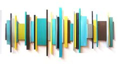 Image of modern geometric abstract painted wood wall sculpture - 2 size options - by Rosemary Pierce Art Mural 3d, 3d Art, 3d Wall Art, Geometric Wall Art, Large Wall Art, Modern Artwork, Modern Wall, Painted Wood Walls, Wall Sculptures