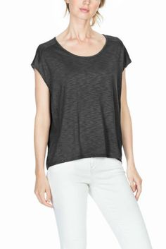 Lilla P. Seamed Scoop Neck Tee