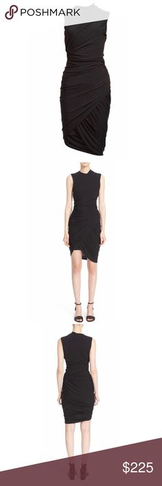 Black Alexander Wang Sleeveless Asymmetrical Dress Brand new without tags  Authentic  New Shopbop Alexander Wang Black Sleeveless Asymmetrical Draped Sheath Dress 2  Exquisite draping sweeps around a beautifully contoured sheath dress fashioned with a sleeveless fitted bodice and contemporary asymmetrical hemline.  Zip closure at shoulder. Crewneck. Sleeveless. Lined. 75% acetate, 20% polyamide, 5% elastane. Dry clean. By Alexander Wang    SOLD-OUT EVERYWHERE!!!  US Size-2 Alexander Wang…