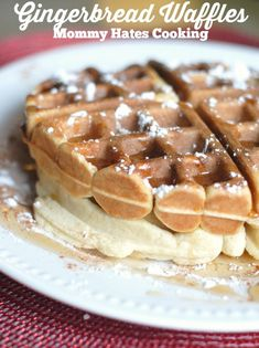 Gingerbread Waffles I Mommy Hates Cooking