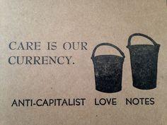 ensemble de trois : anticapitaliste amour note par radicalemprints