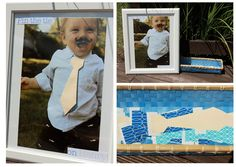 """Little Man Mustache Bash: enlarged photo of the birthday boy for """"pin the tie on _____"""" game"""