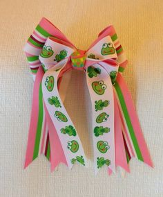 Two horse show hair bows for young by BowdanglesShowBows on Etsy, $25.00