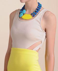 Abbeline Colorblock Cut Out Dress