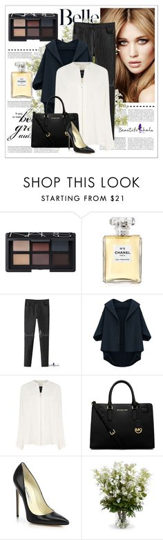 """Bhalo 13"" by goldenhour ❤ liked on Polyvore featuring NARS Cosmetics, Chanel, Derek Lam, MICHAEL Michael Kors, Brian Atwood, New Growth Designs, bhalo and bhalo2"