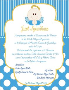 invitacion bautizo angel