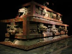 Facade of the Temple of the Feathered Serpent (Teotihuacán) - Mesoamerican architecture - Wikipedia, the free encyclopedia