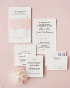 Love everything about these invitations- the monogram wrap, the shape,n the font, the colored monogram at the top.