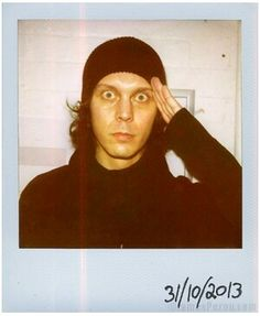 Ville Valo from HIM by James Perou for 'Polaroids of Folk that Make Music', 31/10/ 2013.
