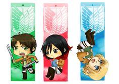 SNK Bookmarks: Golden trio by Nelluy.deviantart.com on @DeviantArt