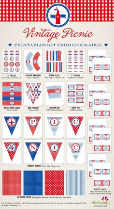 printables for the 4th (country fair style)
