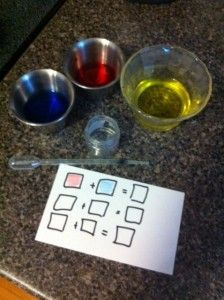 Easy science with the kids - experimenting and 'record keeping'